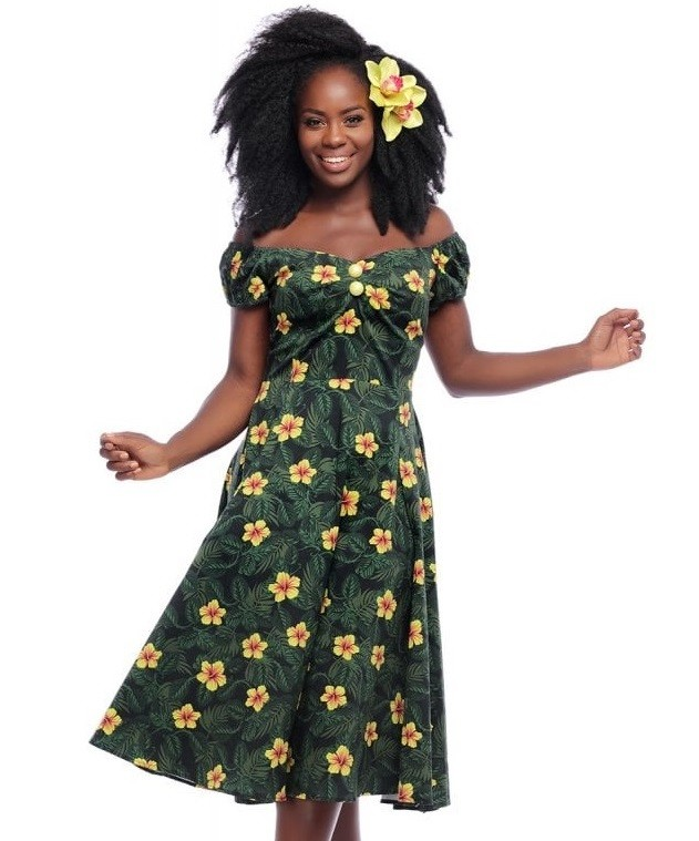 Collectif Hibiscus Dolores Doll Dress