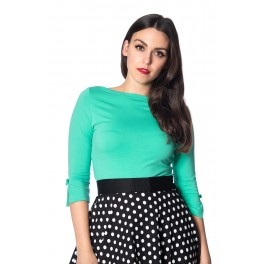 Banned Retro Oonagh Basic Top in Emerald