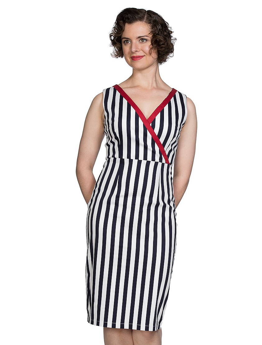 Banned Retro Striped Land Ahoy Dress