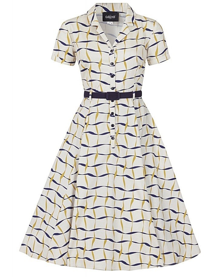 Collectif Ribbon Check Caterina Dress