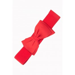 Banned Apparel Red Bella Retro Bow Belt
