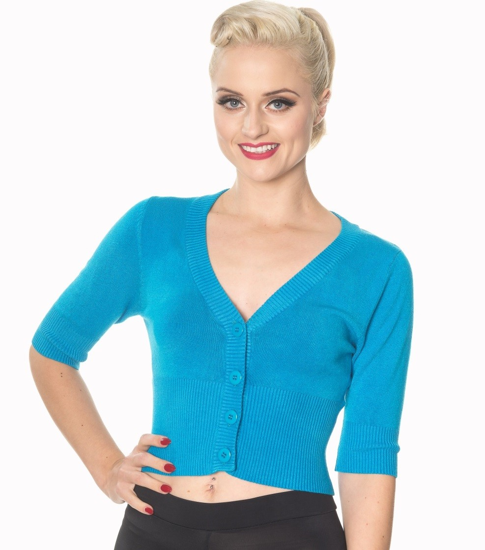 Banned Apparel Overload Cropped Cardigan - Blue