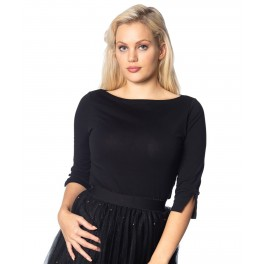 Banned Retro Oonagh Basic Top in Black