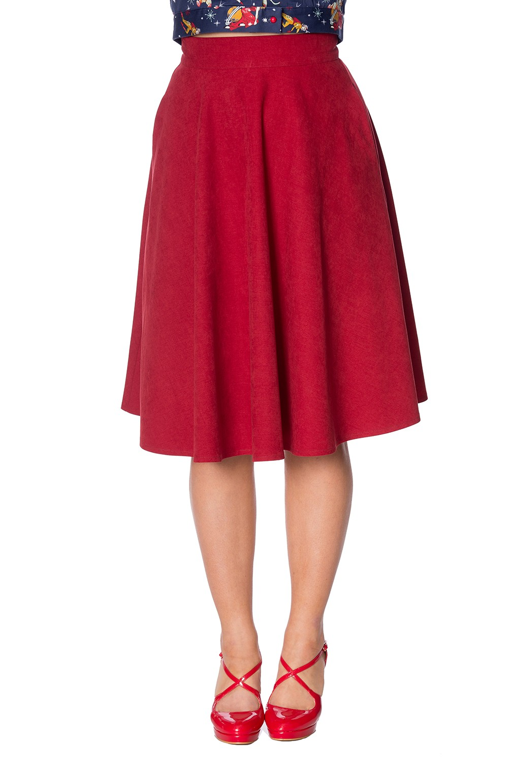 Banned Retro Sophisticated Lady Skirt - Red