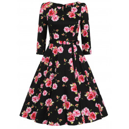 H&R London Ava Floral Swing Dress