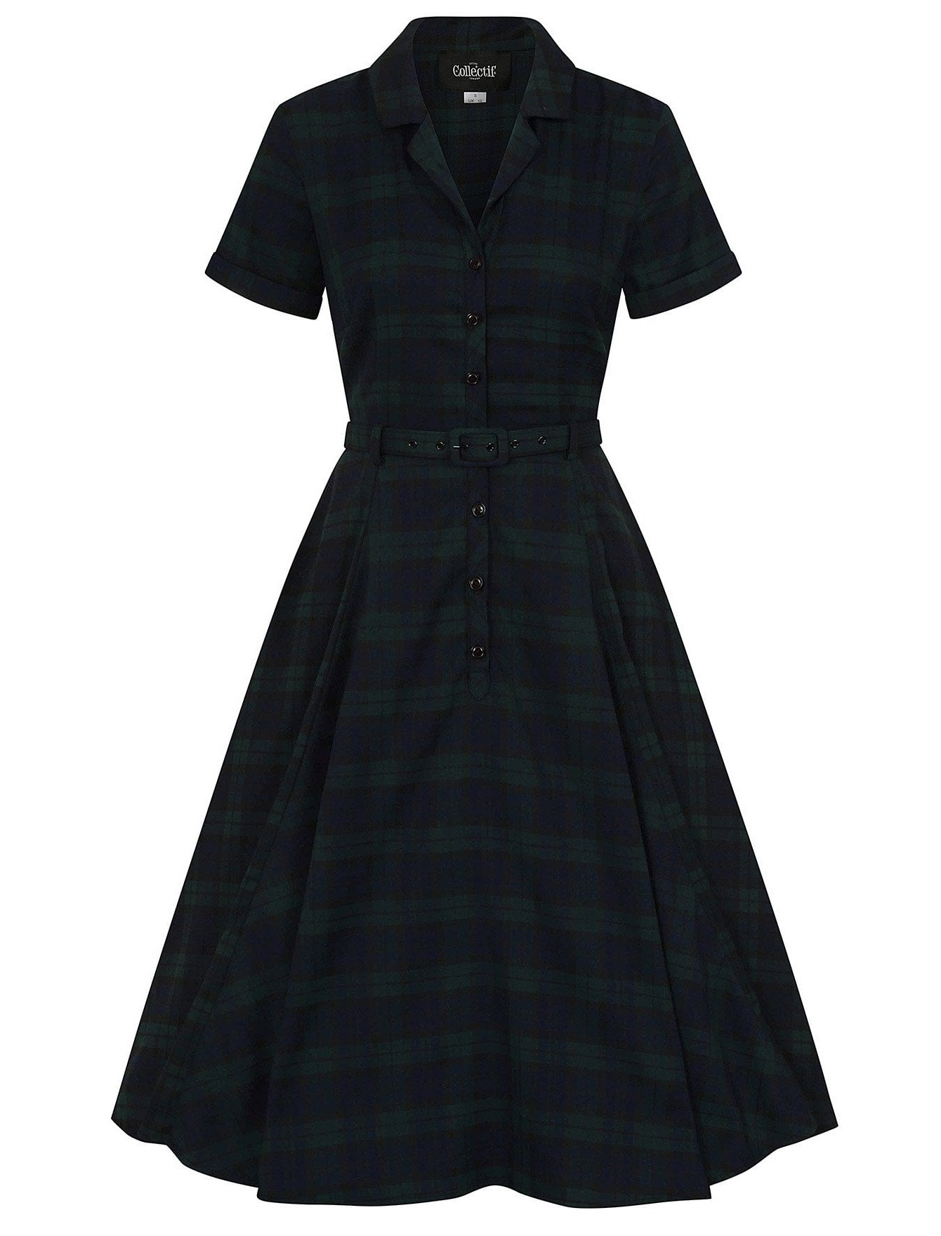 Collectif Caterina Blackwatch Check Dress