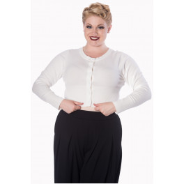 Banned Retro Dolly Cropped Cardigan OffWhite