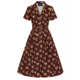 Collectif Fall Leaves Caterina Dress