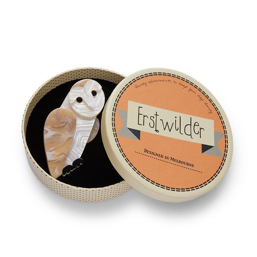 Miah the Masked Owl Erstwilder Brooch