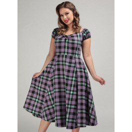 Collectif Hocus Pocus Check Dolores Doll Dress