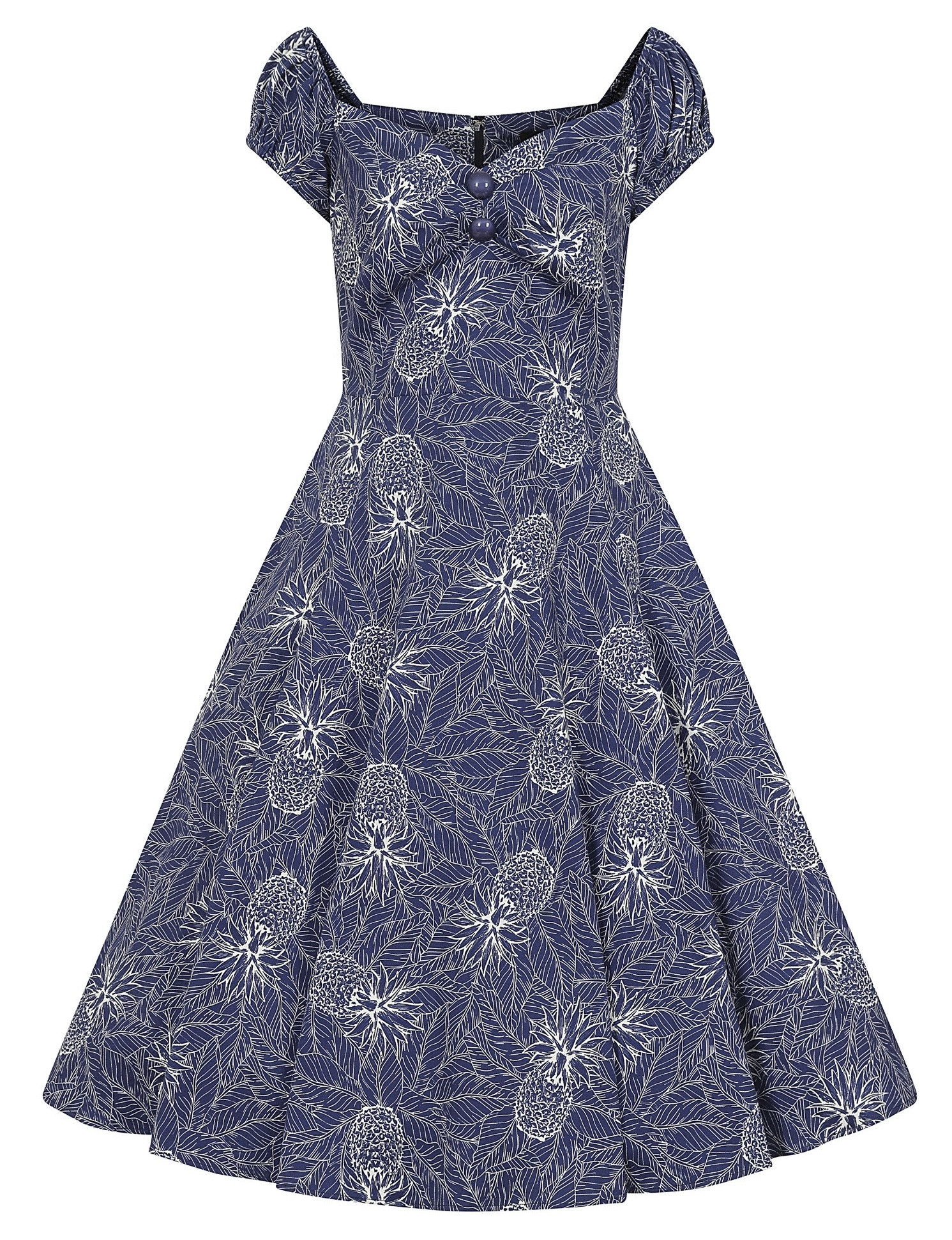 Collectif Pineapple Palm Dolores Doll Dress
